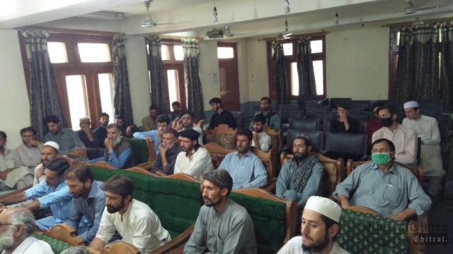 chitraltimes chew dok press confrence against khurshid health