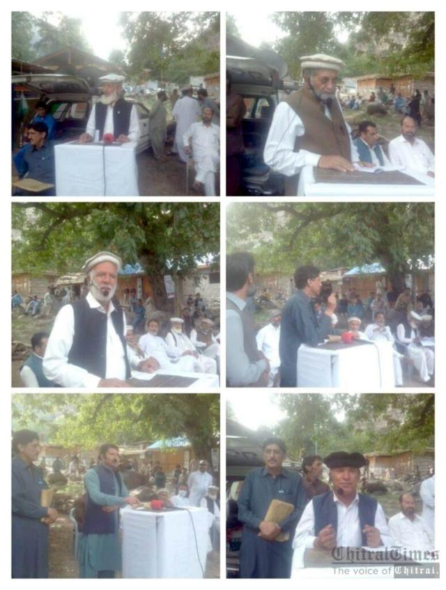 chitraltimes kalash valley protest against delay road construction1