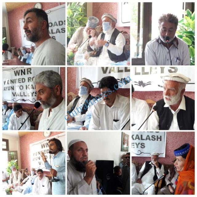 chitraltimes kalash valley road protest rally2