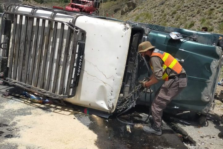 Five people injured in accident