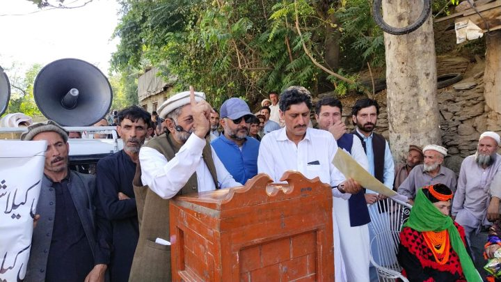 Protest against delay in Kalash valleys road construction