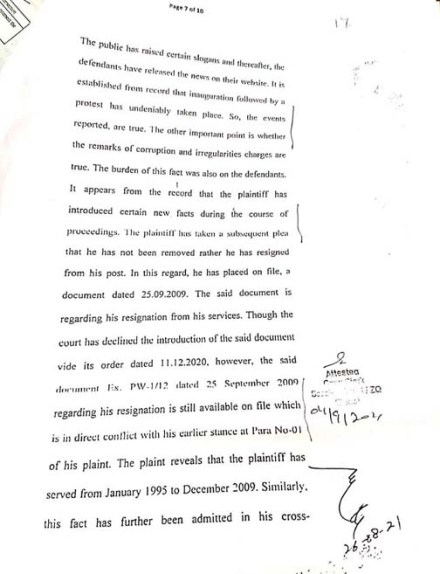 ChitralToday report against Zohran Shah was based on facts: court