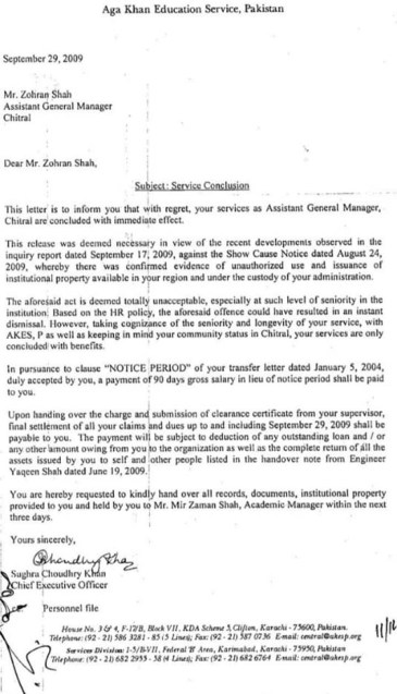 Sacked AKES official