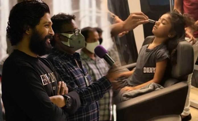 Allu Arjun & Sneha On Shaakuntalam Sets