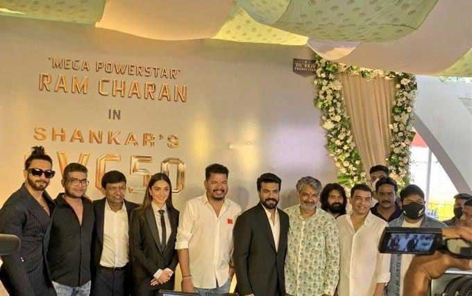 Ram Charan RC15 Movie Launch Photos and Posters