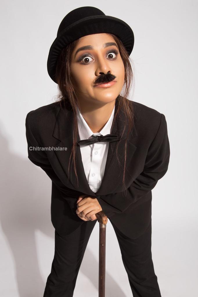 sexy beauty Nabha Natesh Charlie Chaplin looks Viral