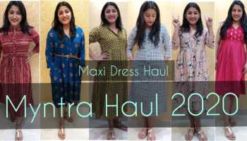 Myntra Haul 2020 Maxi Dress Haul