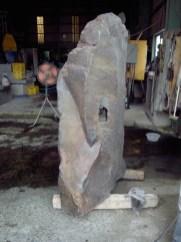 完成した縦石 Prepared vertical stone