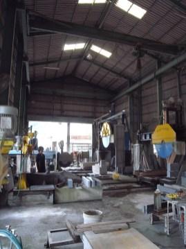 石材加工場 Stone processing yard