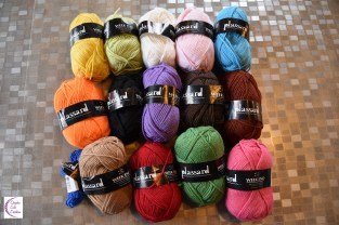 50/50 wool-acrylic +°+ 50/50 laine-acrylique