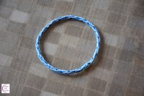 'All Blue' kumihimo bracelet
