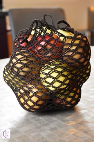 Foldable crochet bag +°+ Sac en crochet pliable