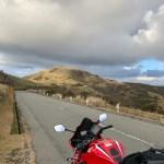 山の稜線を行く西伊豆スカイラインにてwith CBR650R