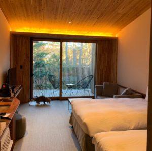 レジーナリゾート旧軽井沢の落ち着いた雰囲気のお部屋