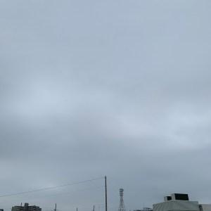 埼玉自宅近くの出発前の空模様