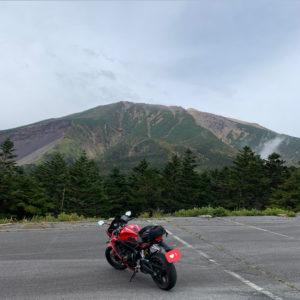 標高2000m超田の原駐車場より標高3000m超御嶽山山頂を望むwith CBR650R②