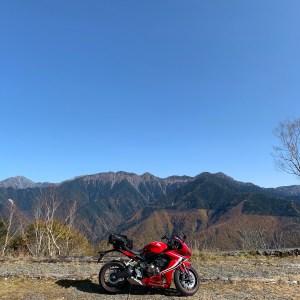 しらびそ高原での南アルプスの絶景with CBR650R