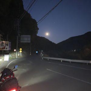 南信・昼神温泉手前で夜空を眺める