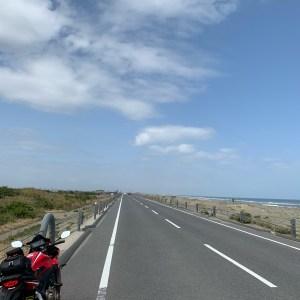 九十九里有料道路の海が見えるエリアにてwith CBR650R②