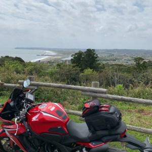 房総半島・外房の太東埼灯台の丘からの眺めwith CBR650R