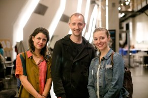 """Eli Nelson came to see Courtney and Chloë's piece """"Medial Prefrontal Cortex"""" (2016) at the Contemporary Jewish Museum. Photo by Gary Sexton"""