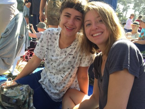 Co and Chlo seeing Gillian Welch at Hardly Strictly Bluegrass 2015