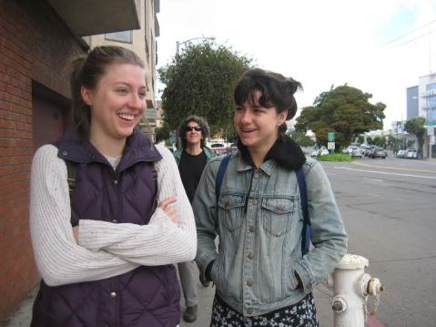 Chlo's parents visit SF, 2016! After breakfast smiles, headed to rehearsal. Todd Zimberg spotted. Photo by Maggie Laird