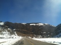 Driving from South Fork to Creede.
