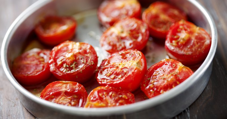 Slow Roast Tomatoes with  Thyme and Oregano