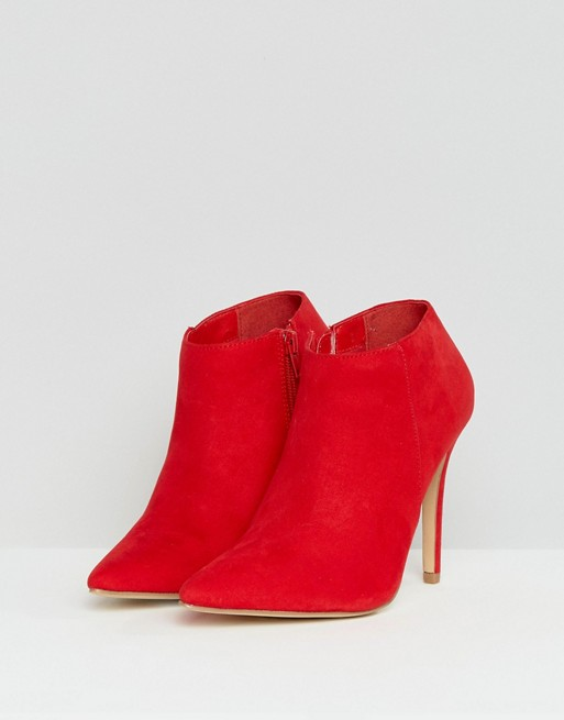 Ankle Boots - Red Suede 2