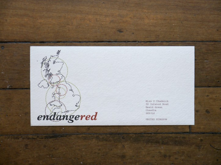 endangeRED First Day Cover
