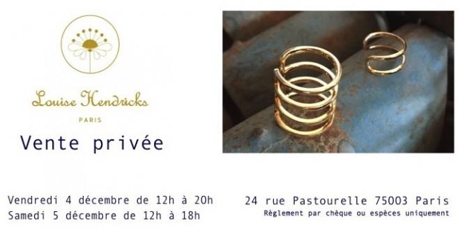 vente presse bijoux Louise Hendricks
