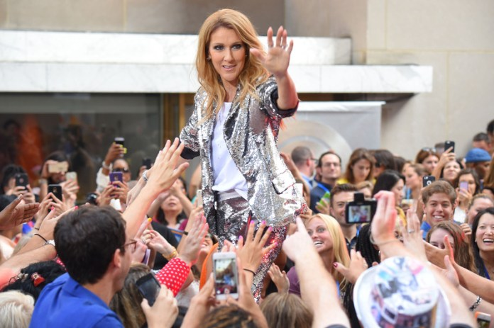 """NEW YORK, NY - JULY 22: Celine Dion performs on NBC's """"Today"""" show at Rockefeller Plaza on July 22, 2016 in New York City. Michael Loccisano/Getty Images/AFP"""