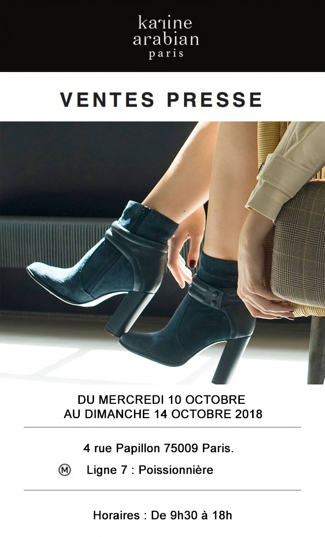 vente presse Karine Arabian hiver 2018