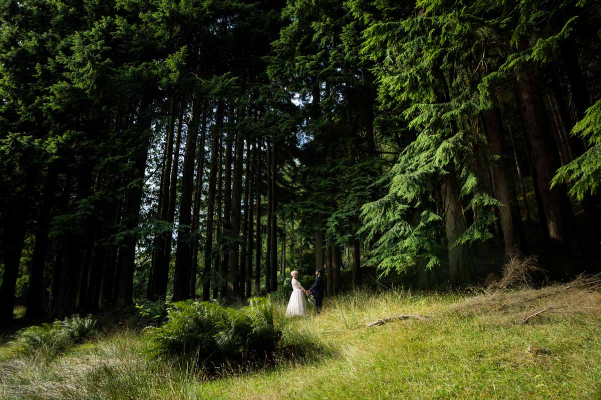 Bride and groom in Dunoon. Dunoon wedding photographer. Old Kilmun House wedding photography.