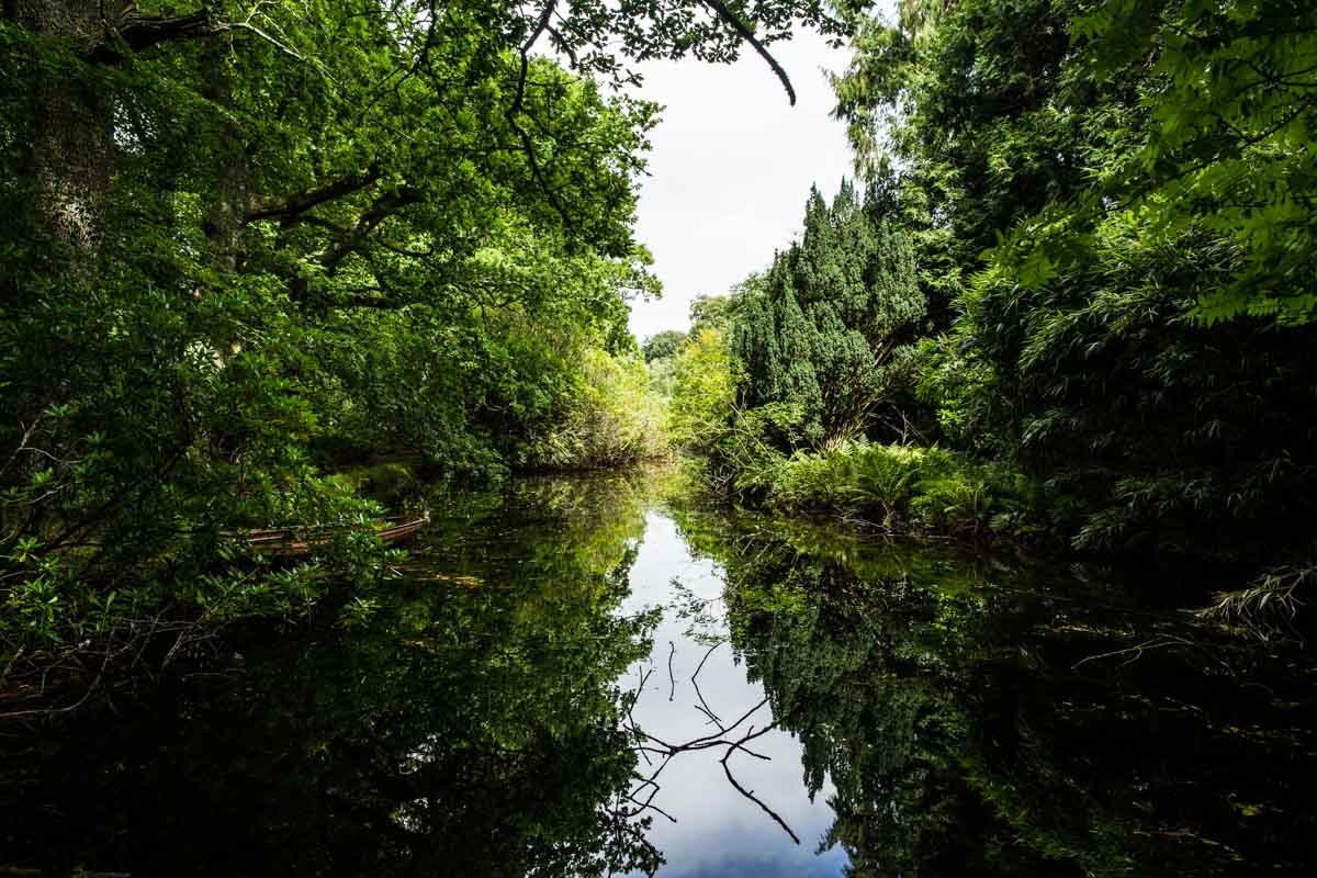Ardkinglas lake set in the gardens. Ardkinglas wedding photographer.