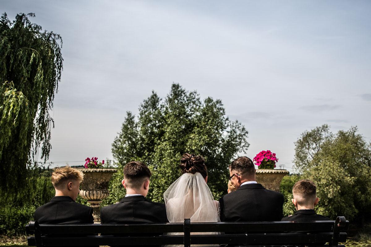 Alternative family portrait. Glasgow wedding photographer. Scotland wedding