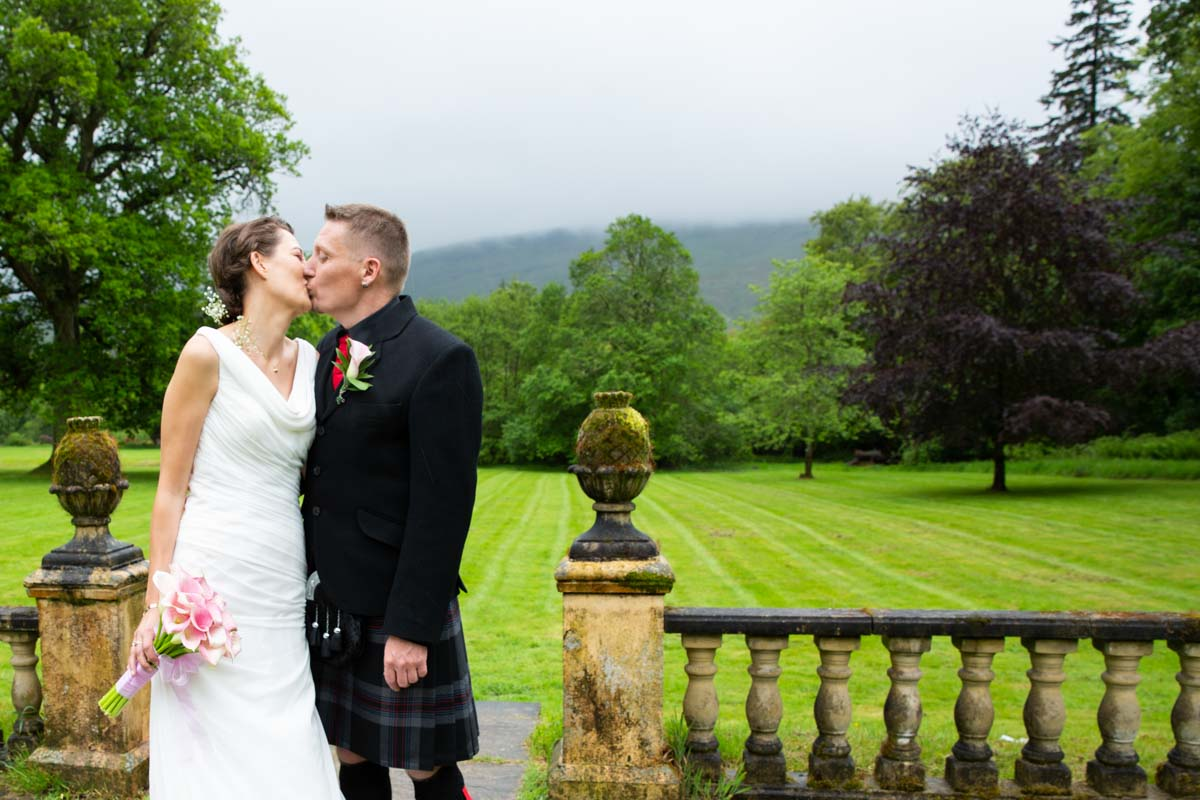Culcreuch Castle wedding ideas. Gardens at Culcreuch Castle