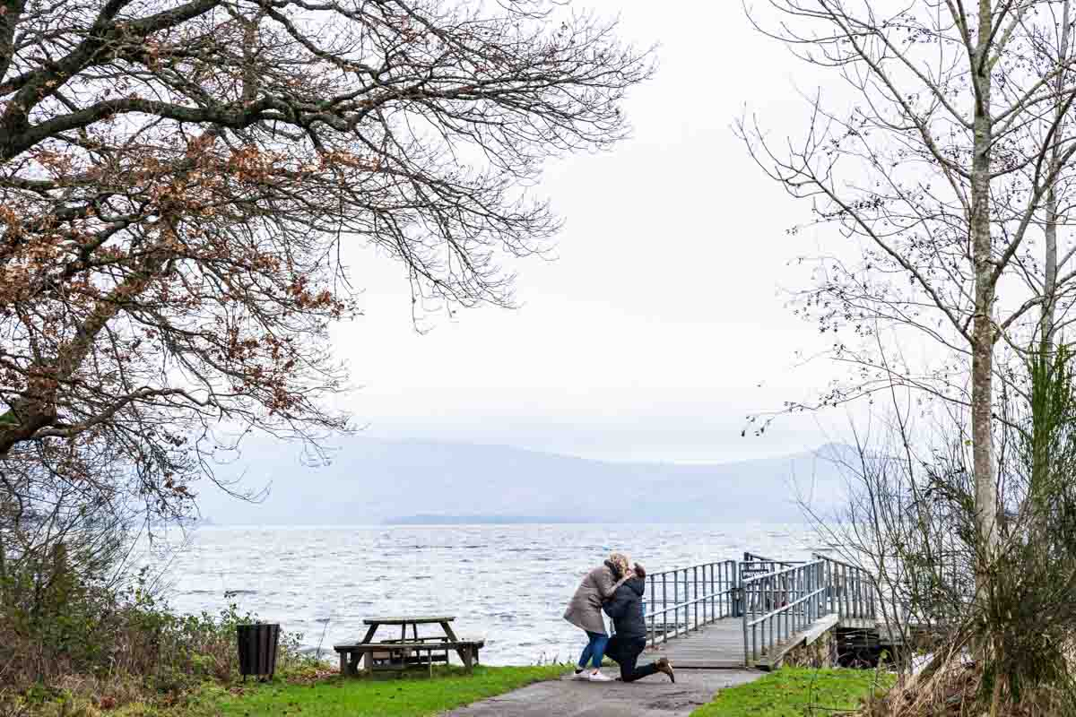 Loch Lomond proposal engagement photoshoot