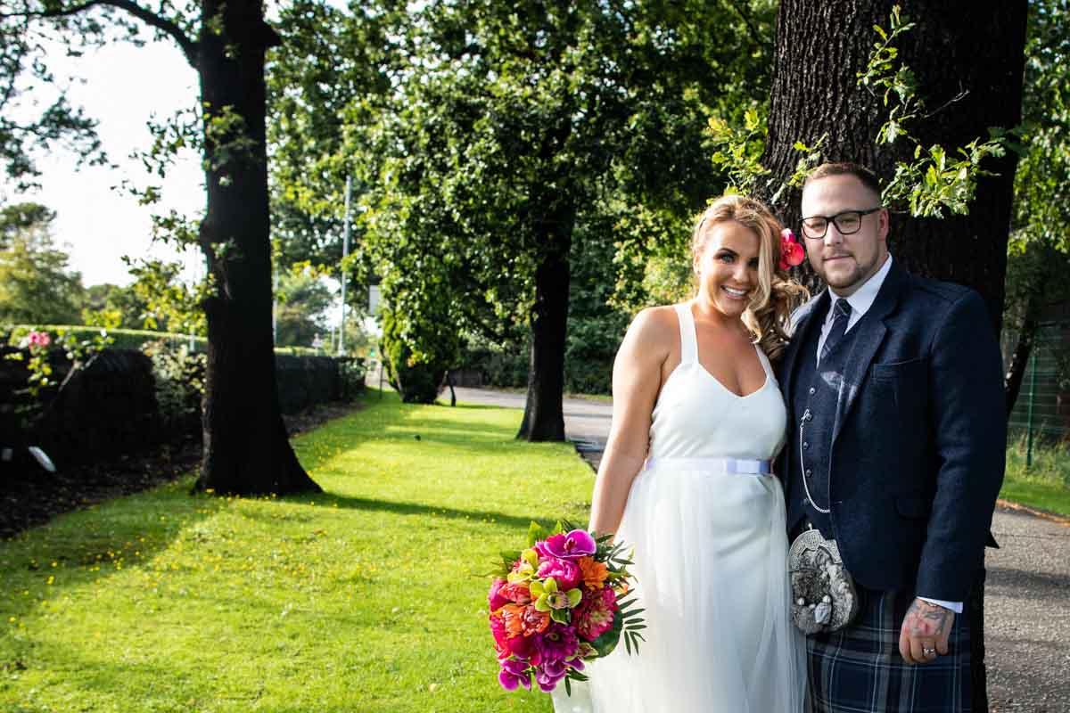Weddings at The Dumbuck Hotel. Dumbarton wedding photographer
