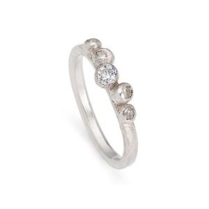 diamond 5 stone granulation ring £475
