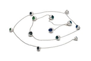 fine silver and enamel wrap necklace £650
