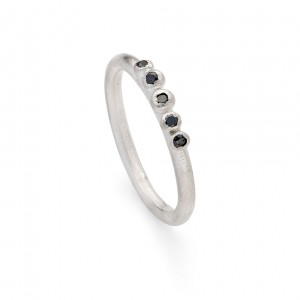 black diamond granulation ring  (sterling silver) £240