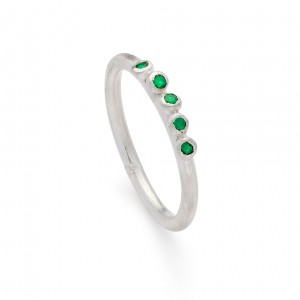 emerald granulation ring (sterling silver) £240