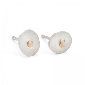 silver studs with gold 9ct detail £35