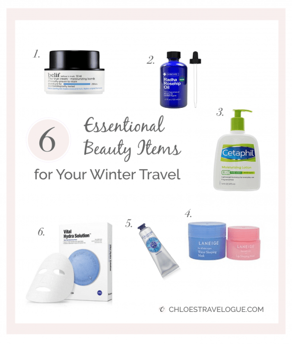 What to Pack for Japan | Surviving Japan Winter Season | 6 Essential Beauty Items for Winter Travel #whattowearinjapan #japanpackinglist #koreanbeauty #winterskincare| chloestravelogue.com