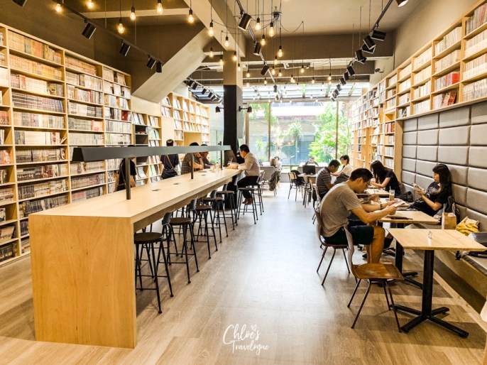 Best Coffee in Kaohsiung, Taiwan   Booking - A unique book cafe featuring cartoons, books, magazine and brunch all in one place.   #Kaohsiung #Taiwan #Coffee #BookCafe