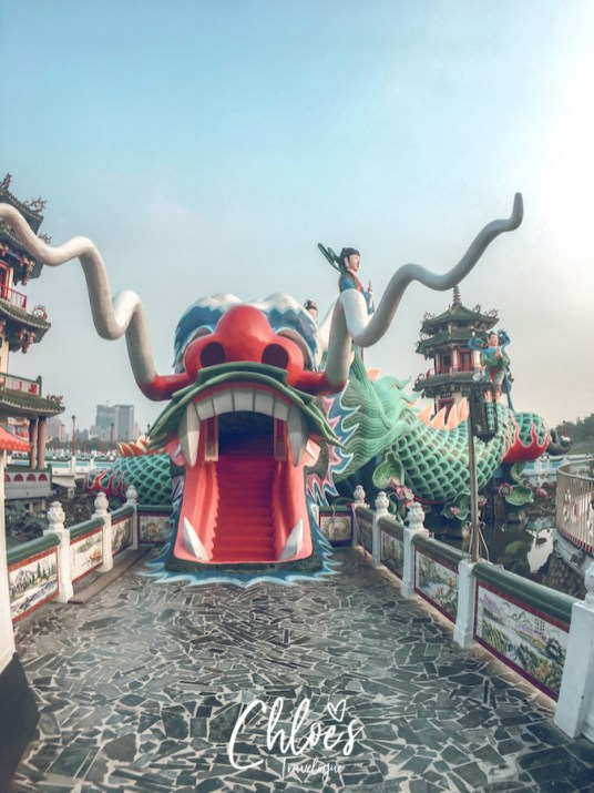 Kaohsiung Itinerary Day 3 | Visit Lotus Pond to see Dragon & Tiger Pagodas, giant Buddhist & Taoist Statues | #Kaohsiung #Taiwan #LotusPond #Buddha