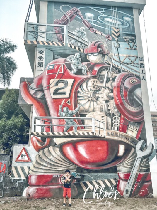 Kaohsiung Sizihwan Pier 2 Art District Robot Graffiti_Lr Edit_Low Res