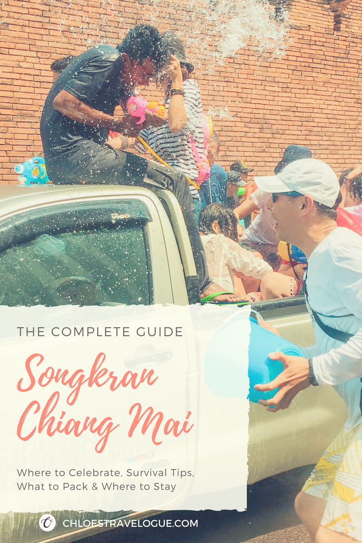Pin It! Songkran 2018 Chiang Mai Guide | Survival Tips, What to Pack, Where to Party & Stay | chloestravelogue.com